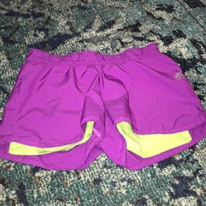 Adidas shorts with spandex liner